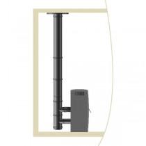 Kit raccordement Cheminée Pellets Vertical Noir étanche diam 80 mm