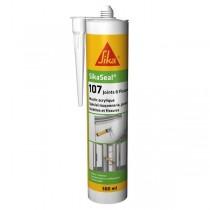 Mastic Acrylique SIKASEAL 107 Gris pour Joints et Fissures, 300 ml