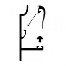Rive Tous profils - 16 mm - Alu - Longueur de 2 m à 7 m