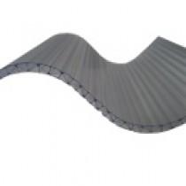 Plaque Polycarbonate Ondulé Alvéolaire - Grandes Ondes - 0,92 m x 1,52 m