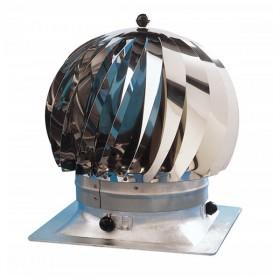 Extracteur eolien anti-refouleur Aspiromatic Sebico inox, modèle 240C