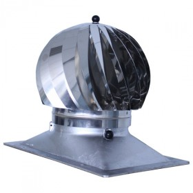 Extracteur eolien anti-refouleur Aspiromatic Sebico inox, modèle 240R