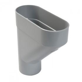 Jambonneau PVC pour Gouttière demi-ronde Gris Nicoll, d 100 cm