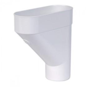 Jambonneau PVC pour Gouttière demi-ronde Blanc Nicoll, d 100 mm