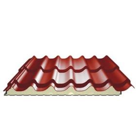 Panneau tuile isolé pour couverture - ep 40 mm, couleur terracota