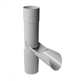 Récupérateur eau pluviale à clapet Gris Diamètre 80 mm Nicoll REP80