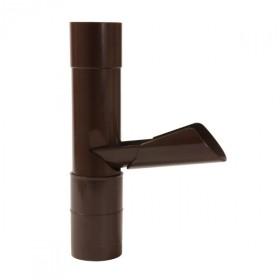 Récupérateur eau pluviale à clapet Marron Diamètre 80 mm Nicoll REP80M