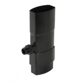 Récupérateur eau pluviale ovoïde Noir Diam 90 x 56 mm Nicoll REP95N