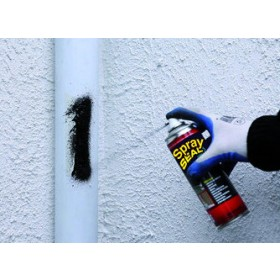 Spray seal noir, bitume en spray pour étanchéité, bouteille de 405 ml