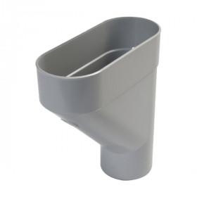 Jambonneau PVC pour Gouttière demi-ronde Gris Nicoll, d 80 mm