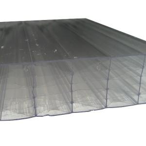 Plaque Polycarbonate Alvéolaire - Claire - 55 mm - 1,25 m - Longueur de 2 à 7 m