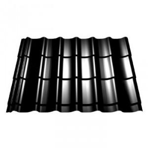 Panneau tuile pour couverture - ep 0,5 mm, couleur gris ardoise