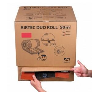 Closoir Airtec Duo Roll, coul Brun, larg 240 mm en carton de 50 M