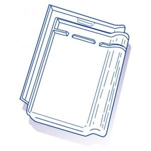 Tuile de verre Monopole n°1, ref LR n°1, en carton de 10 U