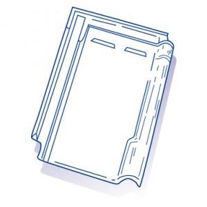 Tuile de verre  Koramic n°44, ref LR n°26 carton de 10 U