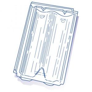 Tuile de verre Delta 10 IRB, ref LR n°44, carton de 8 U