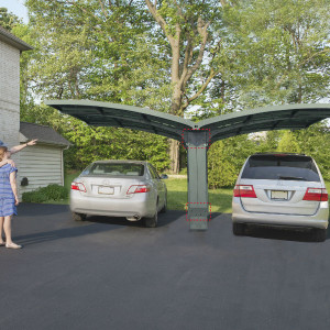 Carport Aluminium Gris Anthracite en Kit Arizona Palram 495 x 578 cm