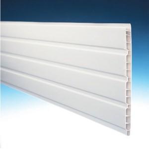 Lambris Alvéolaire PVC Blanc 25 x 1cm, Long 4m